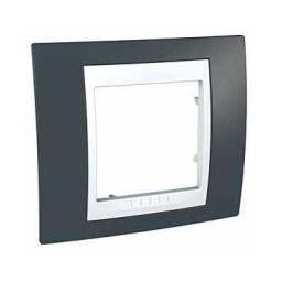 Рамка 1-ая MGU6.002.877Unica Хамелеон<br>Технические характеристикиЦвет: Серо-зеленый/белый.Посты: 1.Модульность: 2.Размер: 80 х 90 мм.Степень защиты: IP40.Дополнительная информация:Материал - пластик.<br><br>Оттенок (цвет): зеленый