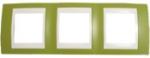Рамка 3-ая гориз MGU6.006.566Unica Хамелеон<br>Технические характеристикиЦвет: Фисташковый/бежевый.Посты: 3.Модульность: 6.Размер: 80 х 232 мм.Степень защиты: IP40.Дополнительная информация:Материал - пластик. Горизонтальная установка.<br><br>Оттенок (цвет): зеленый