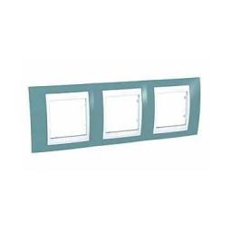 Рамка 3-ая гориз MGU6.006.573 синий/бежевыйSchneider Electric Unica Хамелеон<br>Технические характеристикиЦвет: Синий/бежевый.Посты: 3.Модульность: 6.Размер: 80 х 232 мм.Степень защиты: IP40.Дополнительная информация:Материал - пластик. Горизонтальная установка.<br><br>Оттенок (цвет): синий