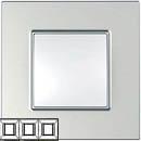 Рамка 3 поста серебро Unica Quadro (Schneider Electric) MGU6.706.55