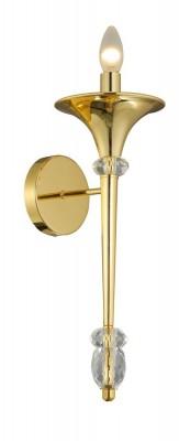 Светильник настенный бра Crystal lux MIRACLE AP1 GOLD 2492/401Современные<br>В интернет-магазине «Светодом» представлен широкий выбор настенных бра по привлекательной цене. Это качественные товары от популярных мировых производителей. Благодаря большому ассортименту Вы обязательно подберете под свой интерьер наиболее подходящий вариант.  Оригинальное настенное бра Crystal lux MIRACLE AP1 GOLD можно использовать для освещения не только гостиной, но и прихожей или спальни. Модель выполнена из современных материалов, поэтому прослужит на протяжении долгого времени. Обратите внимание на технические характеристики, чтобы сделать правильный выбор.  Чтобы купить настенное бра Crystal lux MIRACLE AP1 GOLD в нашем интернет-магазине, воспользуйтесь «Корзиной» или позвоните менеджерам компании «Светодом» по указанным на сайте номерам. Мы доставляем заказы по Москве, Екатеринбургу и другим российским городам.<br><br>Тип цоколя: E14<br>Цвет арматуры: Золотой<br>Количество ламп: 1<br>Ширина, мм: 196<br>Длина, мм: 120<br>Высота, мм: 465<br>MAX мощность ламп, Вт: 60