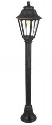 Светильник Fumagalli ANNA MIZAR E22.151.000.AX E27Большие фонари<br>Обеспечение качественного уличного освещения – важная задача для владельцев коттеджей. Компания «Светодом» предлагает современные светильники, которые порадуют Вас отличным исполнением. В нашем каталоге представлена продукция известных производителей, пользующихся популярностью благодаря высокому качеству выпускаемых товаров. <br> Уличный светильник Fumagalli ANNA MIZAR E22.151.000.AX E27 не просто обеспечит качественное освещение, но и станет украшением Вашего участка. Модель выполнена из современных материалов и имеет влагозащитный корпус, благодаря которому ей не страшны осадки. <br> Купить уличный светильник Fumagalli ANNA MIZAR E22.151.000.AX E27, представленный в нашем каталоге, можно с помощью онлайн-формы для заказа. Чтобы задать имеющиеся вопросы, звоните нам по указанным телефонам.<br><br>Крепление: На ножке<br>Тип цоколя: E27<br>Цвет арматуры: Черный<br>Количество ламп: 1<br>Ширина, мм: 220<br>Диаметр, мм мм: 220<br>Высота, мм: 1100<br>Оттенок (цвет): Прозрачный<br>MAX мощность ламп, Вт: 60
