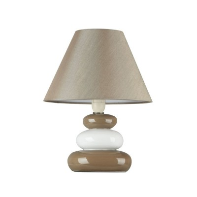 Настольная лампа с камнями Maytoni MOD005-11-WСовременные<br>Настольная лампа – это не просто источник дополнительного освещения, но и оригинальный элемент декора. Его можно установить в спальне, гостиной, кабинете и других комнатах. Интернет-магазин «Светодом» предлагает настольные лампы разных стилей по доступным ценам. Благодаря большому ассортименту Вы обязательно найдете в нашем каталоге именно ту модель, которую искали. <br> Настольная лампа Maytoni MOD005-11-W – прекрасный вариант для завершения интерьера. Ее можно включить одновременно с люстрой для более яркого освещения или без нее для создания уютной атмосферы, настраивающей на отдых. <br> Купить настольную лампу Maytoni MOD005-11-W Вы можете с помощью виртуальной «Корзины» или по контактным номерам, указанным на сайте.<br><br>Тип лампы: Накаливания / энергосбережения / светодиодная<br>Тип цоколя: E14<br>Цвет арматуры: бежевый<br>Количество ламп: 1<br>Диаметр, мм мм: 180<br>Высота, мм: 260<br>MAX мощность ламп, Вт: 60