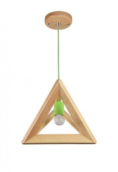 Подвесной светильник Maytoni MOD110-01-GN PyramideОдиночные<br><br><br>Тип товара: Подвесной светильник<br>Тип цоколя: E27<br>Количество ламп: 1<br>Ширина, мм: 300<br>MAX мощность ламп, Вт: 60<br>Глубина, мм: 240<br>Высота, мм: 240