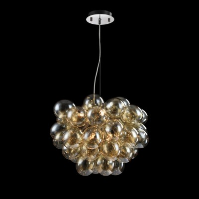 MOD112-08-G Maytoni - СветильникПодвесные<br><br><br>Установка на натяжной потолок: Да<br>S освещ. до, м2: 11<br>Тип лампы: галогенная/LED<br>Тип цоколя: G9<br>Количество ламп: 8<br>Диаметр, мм мм: 600<br>Высота, мм: 500 - 1700<br>MAX мощность ламп, Вт: 28