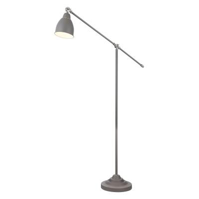 Торшер Maytoni MOD142-FL-01-GR DominoСовременные торшеры<br><br><br>Тип лампы: Накаливания / энергосбережения / светодиодная<br>Тип цоколя: E27<br>Цвет арматуры: Серый<br>Количество ламп: 1<br>Ширина, мм: 260<br>Глубина, мм: 900<br>Высота, мм: 1440<br>MAX мощность ламп, Вт: 40