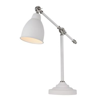 Настольная лампа  Maytoni MOD142-TL-01-W DominoЛофт<br><br><br>Тип лампы: Накаливания / энергосбережения / светодиодная<br>Тип цоколя: E27<br>Цвет арматуры: Белый<br>Количество ламп: 1<br>Ширина, мм: 175<br>Глубина, мм: 470<br>Высота, мм: 520<br>MAX мощность ламп, Вт: 40