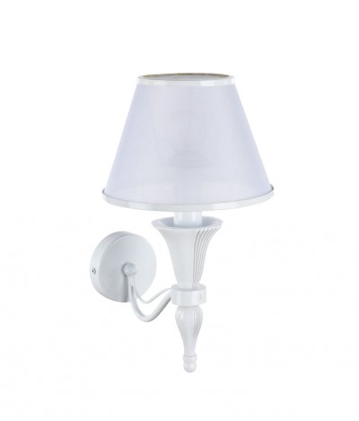 Светильник бра Maytoni MOD150-01-W VirginityКлассика<br><br><br>Тип товара: Светильник настенный бра<br>Тип лампы: Накаливания / энергосбережения / светодиодная<br>Тип цоколя: E14<br>Количество ламп: 1<br>Ширина, мм: 180<br>MAX мощность ламп, Вт: 40<br>Глубина, мм: 250<br>Высота, мм: 320