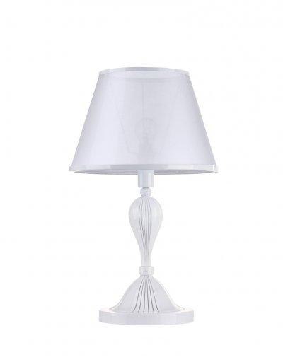 Настольная лампа Maytoni MOD150-11-W VirginityКлассические<br>Настольная лампа – это не просто источник дополнительного освещения, но и оригинальный элемент декора. Его можно установить в спальне, гостиной, кабинете и других комнатах. Интернет-магазин «Светодом» предлагает настольные лампы разных стилей по доступным ценам. Благодаря большому ассортименту Вы обязательно найдете в нашем каталоге именно ту модель, которую искали.   Настольная лампа Maytoni MOD150-11-W – прекрасный вариант для завершения интерьера. Ее можно включить одновременно с люстрой для более яркого освещения или без нее для создания уютной атмосферы, настраивающей на отдых.   Купить настольную лампу Maytoni MOD150-11-W Вы можете с помощью виртуальной «Корзины» или по контактным номерам, указанным на сайте.<br><br>Тип цоколя: E14<br>Количество ламп: 1<br>Ширина, мм: 275<br>MAX мощность ламп, Вт: 40<br>Диаметр, мм мм: 275<br>Глубина, мм: 275<br>Высота, мм: 460