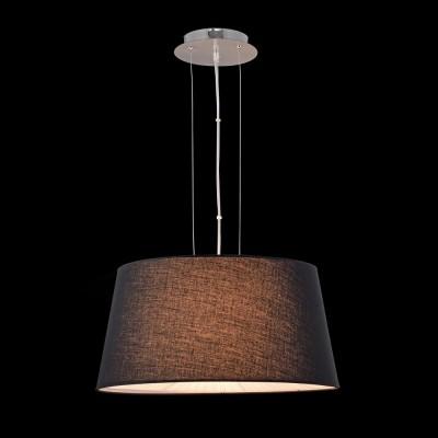 Люстра Maytoni MOD179-PL-01-B Calvin Ceilingсовременные подвесные люстры модерн<br><br><br>Тип лампы: Накаливания / энергосбережения / светодиодная<br>Тип цоколя: E27<br>Цвет арматуры: Хром серебристый<br>Количество ламп: 4<br>Диаметр, мм мм: 500<br>Высота полная, мм: 1350<br>Высота, мм: 250<br>Поверхность арматуры: глянцевая<br>Оттенок (цвет): черный<br>MAX мощность ламп, Вт: 60<br>Общая мощность, Вт: 240
