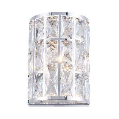 Бра  Maytoni MOD184-WL-01-CH GelidХрустальные<br><br><br>Тип лампы: галогенная/LED<br>Тип цоколя: G9<br>Цвет арматуры: Хром серебристый<br>Количество ламп: 1<br>Ширина, мм: 147<br>Глубина, мм: 100<br>Высота, мм: 212<br>MAX мощность ламп, Вт: 40