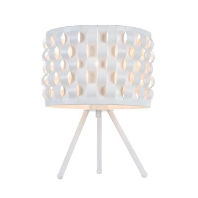 Настольная лампа  Maytoni MOD196-TL-01-W DelicateСовременные настольные лампы модерн<br><br><br>Тип лампы: Накаливания / энергосбережения / светодиодная<br>Тип цоколя: E27<br>Цвет арматуры: Белый<br>Количество ламп: 1<br>Диаметр, мм мм: 255<br>Высота, мм: 320<br>MAX мощность ламп, Вт: 60