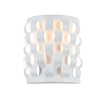 Бра  Maytoni MOD196-WL-01-W DelicateСовременные<br><br><br>Тип лампы: Накаливания / энергосбережения / светодиодная<br>Тип цоколя: E14<br>Цвет арматуры: Белый<br>Количество ламп: 1<br>Ширина, мм: 119<br>Глубина, мм: 100<br>Высота, мм: 170<br>MAX мощность ламп, Вт: 40