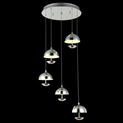 Светильник Maytoni MOD209-05-N PerseusПодвесные<br><br><br>Установка на натяжной потолок: Да<br>Крепление: Планка<br>Тип товара: Светильник<br>Тип лампы: LED<br>Тип цоколя: LED<br>Количество ламп: 5<br>MAX мощность ламп, Вт: 4,8<br>Диаметр, мм мм: 440<br>Высота, мм: 175<br>Цвет арматуры: серый