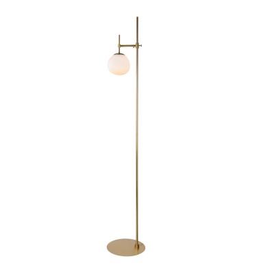Торшер  Maytoni MOD221-FL-01-G ErichСовременные торшеры<br><br><br>Тип лампы: Накаливания / энергосбережения / светодиодная<br>Тип цоколя: E14<br>Цвет арматуры: Кремовый золотой<br>Количество ламп: 1<br>Диаметр, мм мм: 150<br>Высота, мм: 1550<br>MAX мощность ламп, Вт: 40