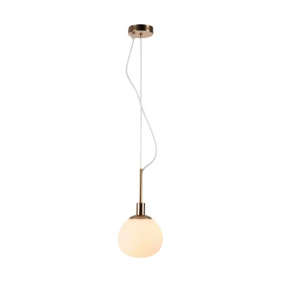 Подвес Maytoni MOD221-PL-01-G ErichОдиночные<br><br><br>Тип лампы: Накаливания / энергосбережения / светодиодная<br>Тип цоколя: E14<br>Цвет арматуры: Кремовый золотой<br>Количество ламп: 1<br>Диаметр, мм мм: 150<br>Высота полная, мм: 1305<br>Высота, мм: 305<br>MAX мощность ламп, Вт: 40