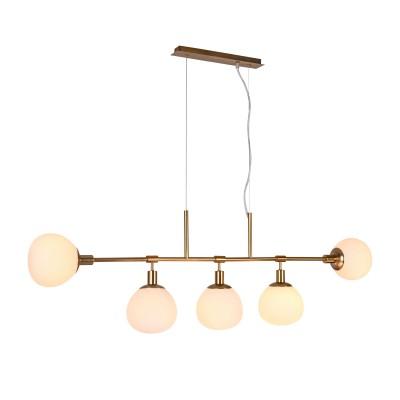 Подвес Maytoni MOD221-PL-05-G ErichДлинные 4+<br><br><br>Тип лампы: Накаливания / энергосбережения / светодиодная<br>Тип цоколя: E14<br>Цвет арматуры: Кремовый золотой<br>Количество ламп: 5<br>Ширина, мм: 1200<br>Высота полная, мм: 1372<br>Глубина, мм: 150<br>Высота, мм: 372<br>MAX мощность ламп, Вт: 40