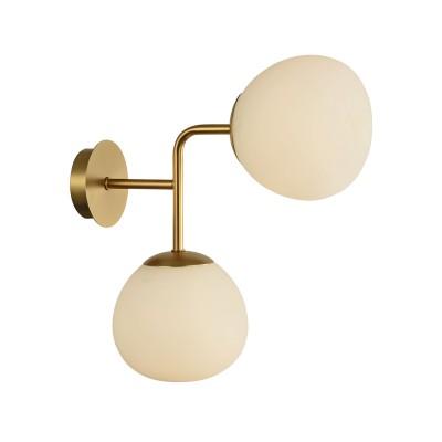 Бра Maytoni MOD221-WL-02-G ErichЛофт<br><br><br>Тип лампы: Накаливания / энергосбережения / светодиодная<br>Тип цоколя: E14<br>Цвет арматуры: Кремовый золотой<br>Количество ламп: 2<br>Ширина, мм: 150<br>Глубина, мм: 330<br>Высота, мм: 360<br>MAX мощность ламп, Вт: 40