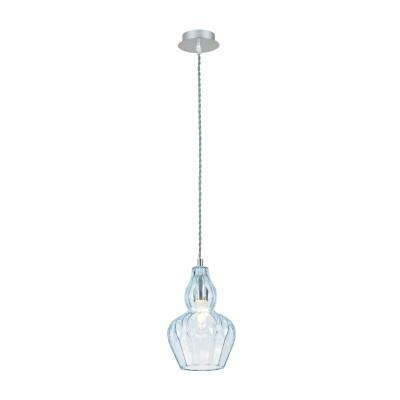 Люстра Maytoni MOD238-PL-01-BL EustomaОдиночные<br><br><br>Тип лампы: Накаливания / энергосбережения / светодиодная<br>Тип цоколя: E14<br>Цвет арматуры: Хром серебристый<br>Количество ламп: 1<br>Диаметр, мм мм: 160<br>Высота полная, мм: 1230<br>Высота, мм: 230<br>MAX мощность ламп, Вт: 40