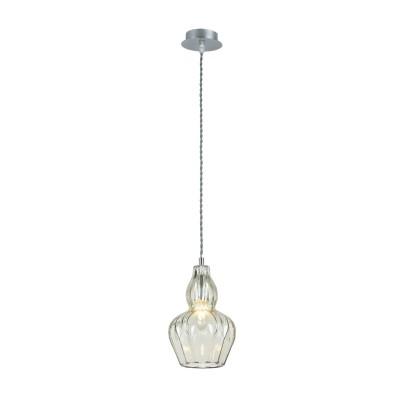 Люстра Maytoni MOD238-PL-01-GN EustomaОдиночные<br><br><br>Тип лампы: Накаливания / энергосбережения / светодиодная<br>Тип цоколя: E14<br>Цвет арматуры: Хром серебристый<br>Количество ламп: 1<br>Диаметр, мм мм: 160<br>Высота полная, мм: 1230<br>Высота, мм: 230<br>MAX мощность ламп, Вт: 40