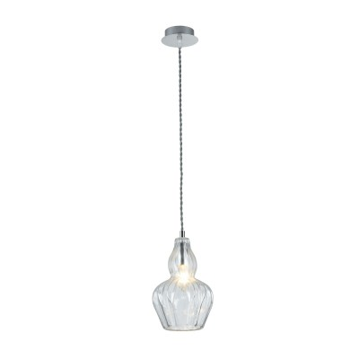 Люстра Maytoni MOD238-PL-01-TR EustomaОдиночные<br><br><br>Тип лампы: Накаливания / энергосбережения / светодиодная<br>Тип цоколя: E14<br>Цвет арматуры: Хром серебристый<br>Количество ламп: 1<br>Диаметр, мм мм: 160<br>Высота полная, мм: 1230<br>Высота, мм: 230<br>MAX мощность ламп, Вт: 40