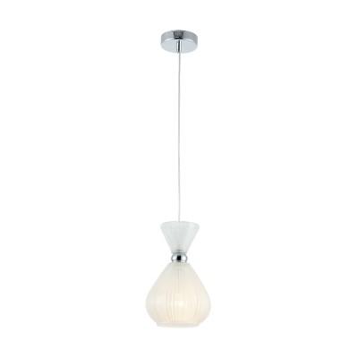Люстра Maytoni MOD250-PL-01-FW BariОдиночные<br><br><br>Тип лампы: Накаливания / энергосбережения / светодиодная<br>Тип цоколя: E14<br>Цвет арматуры: Хром серебристый<br>Количество ламп: 1<br>Диаметр, мм мм: 170<br>Высота полная, мм: 1260<br>Высота, мм: 260<br>MAX мощность ламп, Вт: 40