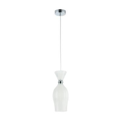 Люстра Maytoni MOD251-PL-01-FW BariОдиночные<br><br><br>Тип лампы: Накаливания / энергосбережения / светодиодная<br>Тип цоколя: E14<br>Цвет арматуры: Хром серебристый<br>Количество ламп: 1<br>Диаметр, мм мм: 135<br>Высота полная, мм: 1330<br>Высота, мм: 330<br>MAX мощность ламп, Вт: 40