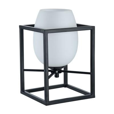Настольная лампа  Maytoni MOD252-TL-01-B CabinЛофт<br><br><br>Тип лампы: Накаливания / энергосбережения / светодиодная<br>Тип цоколя: E14<br>Цвет арматуры: Черный<br>Количество ламп: 1<br>Ширина, мм: 160<br>Глубина, мм: 160<br>Высота, мм: 240<br>MAX мощность ламп, Вт: 40