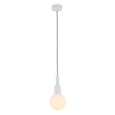 Люстра Maytoni MOD267-PL-01-W BallОдиночные<br><br><br>Тип цоколя: E14<br>Цвет арматуры: Белый<br>Количество ламп: 1<br>Диаметр, мм мм: 120<br>Высота полная, мм: 1250<br>Высота, мм: 250<br>MAX мощность ламп, Вт: 40