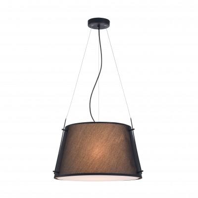 Люстра  Maytoni MOD323-PL-01-B MonicПодвесные<br><br><br>Тип лампы: Накаливания / энергосбережения / светодиодная<br>Тип цоколя: E27<br>Цвет арматуры: Чёрный + Хром серебристый<br>Количество ламп: 1<br>Диаметр, мм мм: 450<br>Высота полная, мм: 1270<br>Высота, мм: 270<br>MAX мощность ламп, Вт: 40
