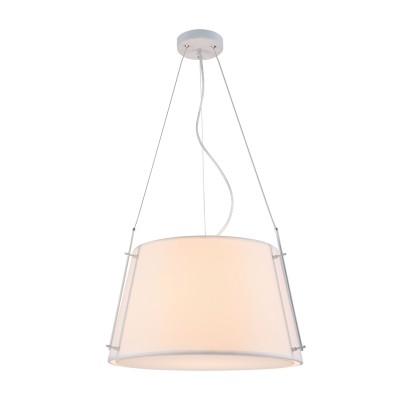 Люстра  Maytoni MOD323-PL-01-W MonicПодвесные<br><br><br>S освещ. до, м2: 2<br>Тип лампы: накаливания / энергосбережения / LED-светодиодная<br>Тип цоколя: E27<br>Цвет арматуры: Белый + Хром серебристый<br>Количество ламп: 1<br>Диаметр, мм мм: 450<br>Высота полная, мм: 1270<br>Высота, мм: 270<br>MAX мощность ламп, Вт: 40