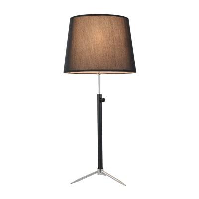 Настольная лампа  Maytoni MOD323-TL-01-B MonicСовременные<br><br><br>Тип лампы: Накаливания / энергосбережения / светодиодная<br>Тип цоколя: E27<br>Цвет арматуры: Чёрный + Хром серебристый<br>Количество ламп: 1<br>Диаметр, мм мм: 350<br>Высота, мм: 700<br>MAX мощность ламп, Вт: 40