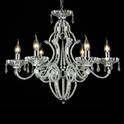 Люстра Maytoni MOD333-06-N PeakПодвесные<br><br><br>Установка на натяжной потолок: Да<br>S освещ. до, м2: 18<br>Крепление: Крюк<br>Тип товара: Люстра<br>Тип лампы: накаливания / энергосбережения / LED-светодиодная<br>Тип цоколя: E14<br>Количество ламп: 6<br>MAX мощность ламп, Вт: 60<br>Диаметр, мм мм: 670<br>Длина цепи/провода, мм: 400<br>Высота, мм: 570<br>Цвет арматуры: серый