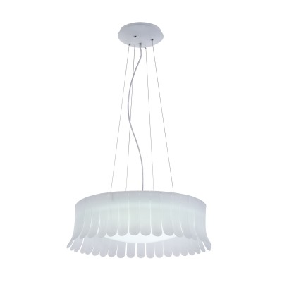 Люстра  Maytoni MOD341-PL-01-36W-W DegasПодвесные<br><br><br>Тип лампы: LED<br>Тип цоколя: LED<br>Цвет арматуры: Белый<br>Количество ламп: 1<br>Диаметр, мм мм: 600<br>Высота полная, мм: 1370<br>Высота, мм: 170<br>MAX мощность ламп, Вт: 36