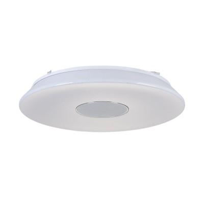 Люстра  Maytoni MOD358-CL-01-60W-W Music 60Потолочные<br><br><br>Тип цоколя: LED 3000 LM<br>Цвет арматуры: Белый<br>Диаметр, мм мм: 530<br>Высота, мм: 78<br>MAX мощность ламп, Вт: 60