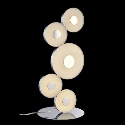 Светильник Maytoni MOD388-55-N MOD388Хай тек<br>Настольная лампа – это не просто источник дополнительного освещения, но и оригинальный элемент декора. Его можно установить в спальне, гостиной, кабинете и других комнатах. Интернет-магазин «Светодом» предлагает настольные лампы разных стилей по доступным ценам. Благодаря большому ассортименту Вы обязательно найдете в нашем каталоге именно ту модель, которую искали.   Настольная лампа Maytoni MOD388-55-N MOD388 – прекрасный вариант для завершения интерьера. Ее можно включить одновременно с люстрой для более яркого освещения или без нее для создания уютной атмосферы, настраивающей на отдых.   Купить настольную лампу Maytoni MOD388-55-N MOD388 Вы можете с помощью виртуальной «Корзины» или по контактным номерам, указанным на сайте.<br><br>S освещ. до, м2: 7<br>Тип лампы: LED - светодиодная<br>Количество ламп: 5<br>MAX мощность ламп, Вт: 22<br>Диаметр, мм мм: 220<br>Высота, мм: 520<br>Цвет арматуры: серебристый