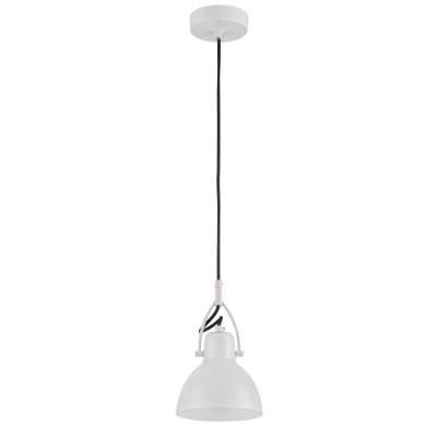 Подвес Maytoni MOD407-PL-01-W DanielОдиночные<br><br><br>Тип лампы: Накаливания / энергосбережения / светодиодная<br>Тип цоколя: E14<br>Цвет арматуры: Белый<br>Количество ламп: 1<br>Диаметр, мм мм: 140<br>Высота полная, мм: 1520<br>Высота, мм: 220<br>MAX мощность ламп, Вт: 40