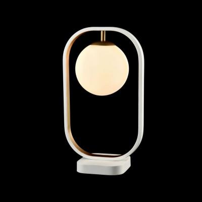 Настольная лампа Maytoni MOD431-TL-01-WG AvolaХай тек<br><br><br>Тип лампы: галогенная/LED<br>Тип цоколя: G9<br>Количество ламп: 1<br>Ширина, мм: 230<br>Длина, мм: 25<br>Высота, мм: 395<br>Цвет арматуры: Белый+золотой