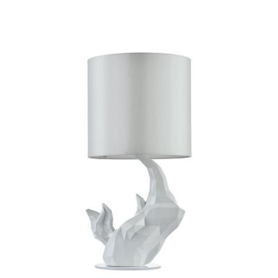 Настольная лампа  Maytoni MOD470-TL-01-W NashornСовременные<br><br><br>Тип лампы: Накаливания / энергосбережения / светодиодная<br>Тип цоколя: E14<br>Цвет арматуры: Белый<br>Количество ламп: 1<br>Диаметр, мм мм: 240<br>Высота, мм: 485<br>MAX мощность ламп, Вт: 40