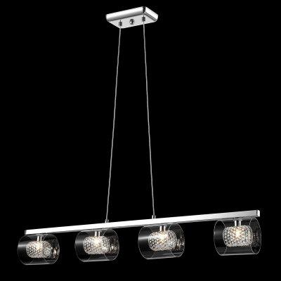 Светильник Maytoni MOD504-44-N MOD504Длинные 4+<br>Подвесной светильник – это универсальный вариант, подходящий для любой комнаты. Сегодня производители предлагают огромный выбор таких моделей по самым разным ценам. В каталоге интернет-магазина «Светодом» мы собрали большое количество интересных и оригинальных светильников по выгодной стоимости. Вы можете приобрести их с доставкой в Москву, Екатеринбург и любой другой город России.  Подвесной светильник Maytoni MOD504-44-N сразу же привлечет внимание Ваших гостей благодаря стильному исполнению. Благородный дизайн позволит использовать эту модель практически в любом интерьере. Она обеспечит достаточно света и при этом легко монтируется. Чтобы купить подвесной светильник Maytoni MOD504-44-N, воспользуйтесь формой на нашем сайте или позвоните менеджерам интернет-магазина.<br><br>Крепление: планка<br>Тип лампы: галогенная / LED-светодиодная<br>Тип цоколя: G9<br>Количество ламп: 4<br>Ширина, мм: 200<br>MAX мощность ламп, Вт: 42<br>Длина, мм: 980<br>Высота, мм: 350 - 1240<br>Цвет арматуры: серебристый
