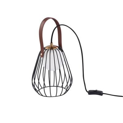 Настольная лампа Maytoni MOD544TL-01B Indiana Modernнастольные лампы лофт<br><br><br>Тип лампы: галогенная/LED - светодиодная<br>Тип цоколя: G9<br>Цвет арматуры: Черный<br>Количество ламп: 1<br>Диаметр, мм мм: 180<br>Высота, мм: 220<br>Поверхность арматуры: матовая/глянцевая<br>Оттенок (цвет): Черный<br>MAX мощность ламп, Вт: 28