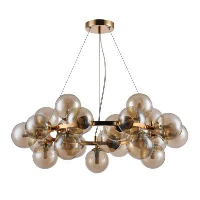 Подвес Maytoni MOD548PL-25G Dallasподвесные люстры лофт<br><br><br>Тип лампы: галогенная/LED - светодиодная<br>Тип цоколя: G9<br>Цвет арматуры: Золотой<br>Количество ламп: 25<br>Диаметр, мм мм: 690<br>Высота полная, мм: 1438<br>Высота, мм: 238<br>Поверхность арматуры: глянцевая<br>Оттенок (цвет): золотой<br>MAX мощность ламп, Вт: 28
