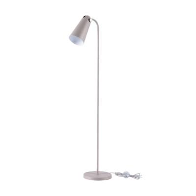 Торшер Maytoni MOD619FL-01GR Novara ModernТоршеры в стиле хай тек<br><br><br>Тип лампы: Накаливания / энергосбережения / светодиодная<br>Тип цоколя: E14<br>Цвет арматуры: Серый<br>Количество ламп: 1<br>Ширина, мм: 250<br>Глубина, мм: 380<br>Высота, мм: 1395<br>Поверхность арматуры: матовая<br>Оттенок (цвет): Серый<br>MAX мощность ламп, Вт: 40