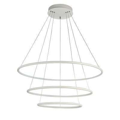 Подвес Maytoni MOD807-PL-03-110-W Nolaподвесные люстры хай тек<br><br><br>S освещ. до, м2: 44<br>Тип лампы: LED-светодиодная<br>Тип цоколя: LED 5500 LM<br>Цвет арматуры: Белый<br>Количество ламп: 1<br>Глубина, мм: 800<br>Оттенок (цвет): Белый<br>MAX мощность ламп, Вт: 110
