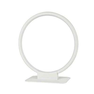 Настольная лампа Maytoni MOD807-TL-01-18-W NolaХай тек<br><br><br>Тип цоколя: LED 900 LM<br>Цвет арматуры: Белый<br>Глубина, мм: 300<br>Оттенок (цвет): Белый<br>MAX мощность ламп, Вт: 18