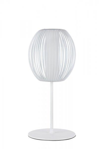 Настольная лампа Maytoni MOD896-01-W FlashСовременные настольные лампы модерн<br>Настольная лампа – это не просто источник дополнительного освещения, но и оригинальный элемент декора. Его можно установить в спальне, гостиной, кабинете и других комнатах. Интернет-магазин «Светодом» предлагает настольные лампы разных стилей по доступным ценам. Благодаря большому ассортименту Вы обязательно найдете в нашем каталоге именно ту модель, которую искали.   Настольная лампа Maytoni MOD896-01-W – прекрасный вариант для завершения интерьера. Ее можно включить одновременно с люстрой для более яркого освещения или без нее для создания уютной атмосферы, настраивающей на отдых.   Купить настольную лампу Maytoni MOD896-01-W Вы можете с помощью виртуальной «Корзины» или по контактным номерам, указанным на сайте.<br><br>Тип цоколя: E27<br>Количество ламп: 1<br>Диаметр, мм мм: 300<br>Высота, мм: 640<br>MAX мощность ламп, Вт: 12