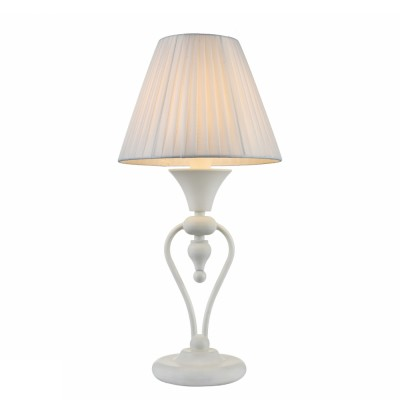 Настольная лампа Maytoni MOD981-TL-01-W MajorcaКлассические<br><br><br>Тип цоколя: E14<br>Цвет арматуры: Белый<br>Количество ламп: 1<br>Глубина, мм: 245<br>Оттенок (цвет): Белый<br>MAX мощность ламп, Вт: 40