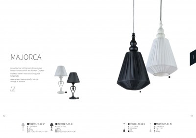 Настольная лампа Maytoni MOD981-TL-01-B MajorcaОжидается<br><br><br>Тип цоколя: E14<br>Цвет арматуры: Черный<br>Количество ламп: 1<br>Глубина, мм: 245<br>Оттенок (цвет): Черный<br>MAX мощность ламп, Вт: 40