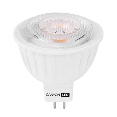 Светодиодная лампа CANYON MRGU53/5W230VW60Зеркальные MR16 - 5.3<br>В интернет-магазине «Светодом» можно купить не только люстры и светильники, но и лампочки. В нашем каталоге представлены светодиодные, галогенные, энергосберегающие модели и лампы накаливания. В ассортименте имеются изделия разной мощности, поэтому у нас Вы сможете приобрести все необходимое для освещения.   Лампа Canyon MRGU53/5W230VW60 обеспечит отличное качество освещения. При покупке ознакомьтесь с параметрами в разделе «Характеристики», чтобы не ошибиться в выборе. Там же указано, для каких осветительных приборов Вы можете использовать лампу Canyon MRGU53/5W230VW60Canyon MRGU53/5W230VW60.   Для оформления покупки воспользуйтесь «Корзиной». При наличии вопросов Вы можете позвонить нашим менеджерам по одному из контактных номеров. Мы доставляем заказы в Москву, Екатеринбург и другие города России.<br><br>Рекомендуемые колбы ламп: MR16<br>Цветовая t, К: 2700<br>Тип лампы: LED - светодиодная<br>Тип цоколя: GU5.3<br>MAX мощность ламп, Вт: 4,8<br>Диаметр, мм мм: 50<br>Длина, мм: 54<br>Общая мощность, Вт: эквивалент лампы накаливания 35 Ватт