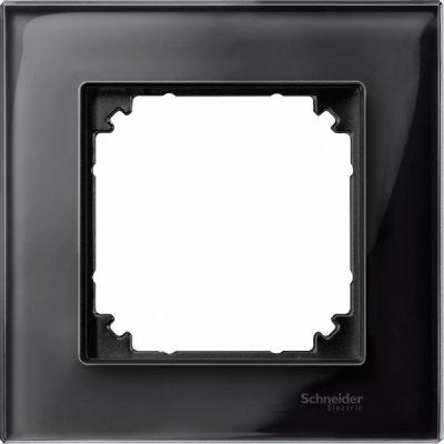 Merten M-Elegance Стекло Черное кальцит Рамка 1-я (MTN404103)Merten<br><br><br>Оттенок (цвет): черный